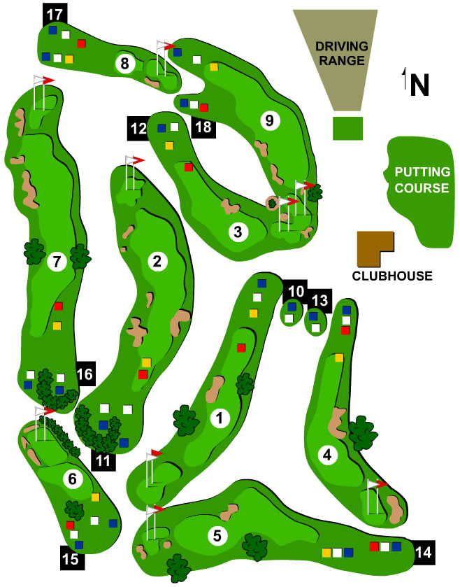 River Ridge Golf Course Layout